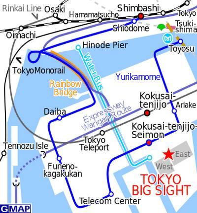 Comiket, mapa do Centro de Convenções Tokyo Big Sight