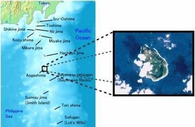 Ilha de Aogashima mapa