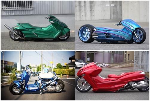 Suzuki Gemma, honda Zoomer e Yamaha Majesty