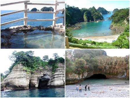 Dogashima na Península de Izu