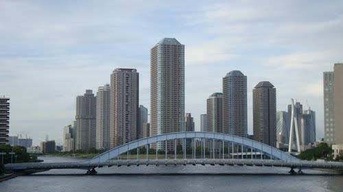 Ponte Eitai Rio Sumida em Tóquio