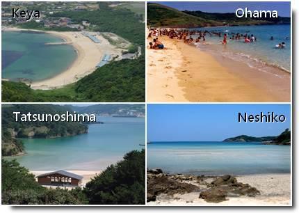 Praias de Fukuoka e Nagasaki