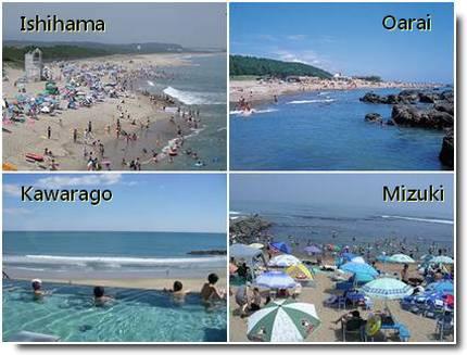 Praias em Ibaraki ken