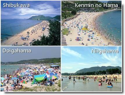 Praias em Okayama, Hiroshima e Yamaguchi
