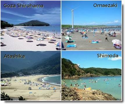 Praias em Shizuoka Ken e Mie Ken