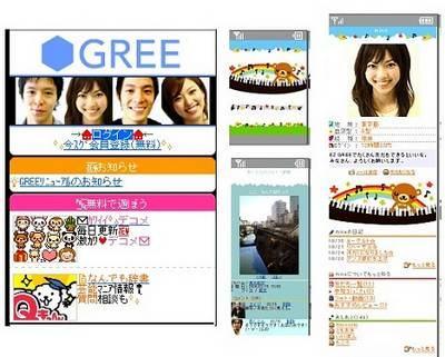 Principais redes sociais no Japão - gree