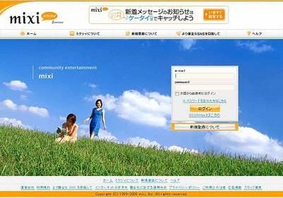 Principais redes sociais no Japão - mixi