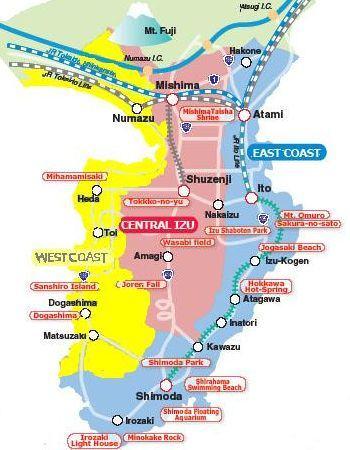 izu map