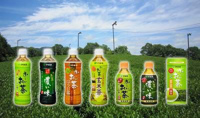 Chás engarrafados populares no Japão