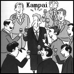 Gestos japoneses - Kampai - Tim Tim