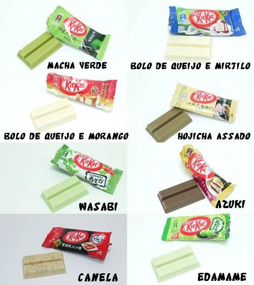 Kit Kat e sabores diferentes no Japão
