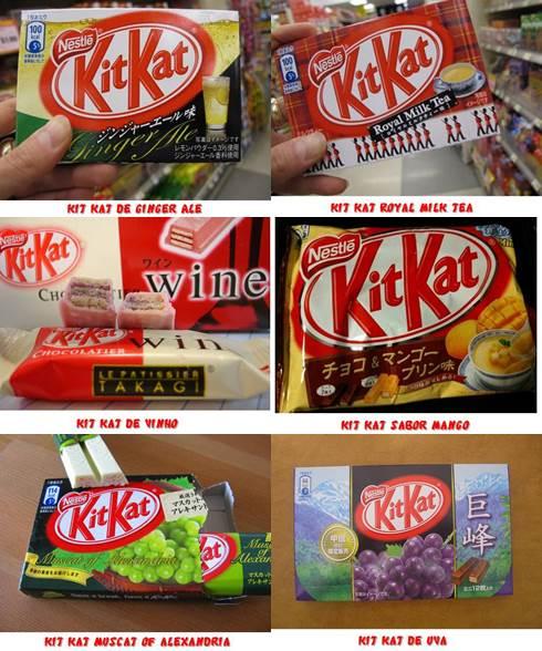 Sabores diferentes de Kit Kat no Japão
