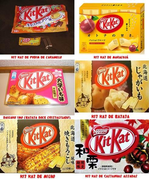Sabores exóticos de Kit Kat no Japão