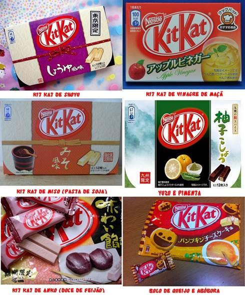 Sabores inusitados de Kit Kat no Japão