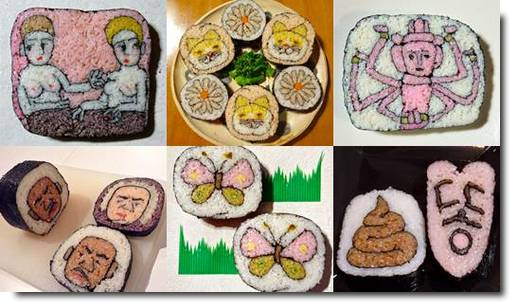 Sushi Art by Takayo Kiyota fotos