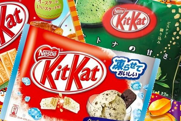 Resultado de imagem para Kit Kat vêm em sabores como milho grelhado,