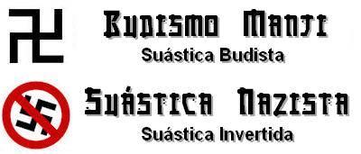 Diferenças entre o manji budista e a suástica nazista