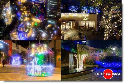 Osaka Nanba Park Winter llumination 2013 imagens