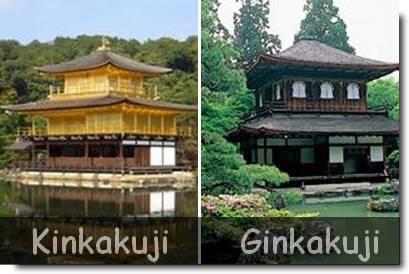 kinkakuji (Pavilhão Dourado) e Ginkakuji (Pavilhão Prateado)