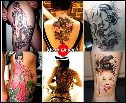 Designer tatuagens de gueixas