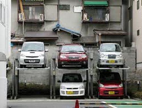 Estacionamento de carros no Japão