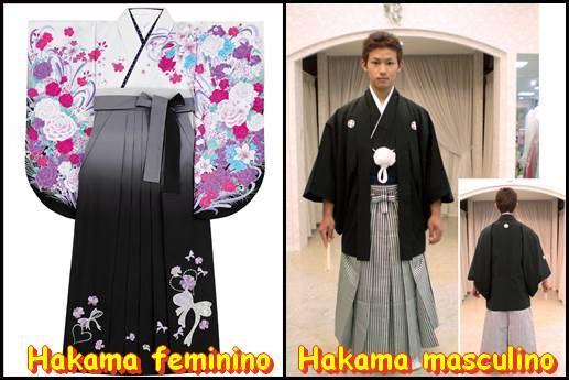 Hakama feminino e masculino