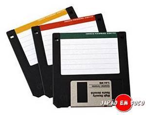 Invenções japonesas - disquetes