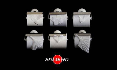 Origami papel higiênico