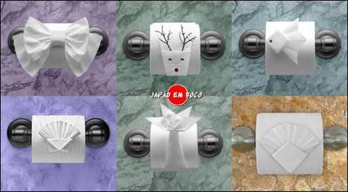 Origami papel higiênico fotos