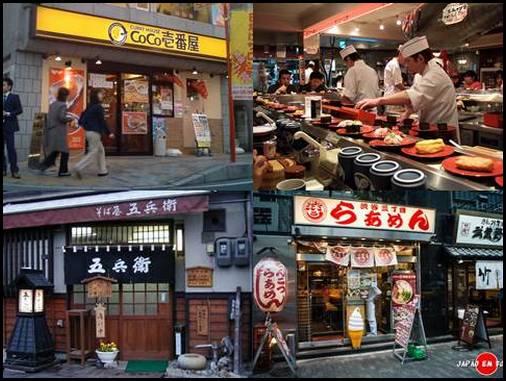 Restaurantes populares no Japão