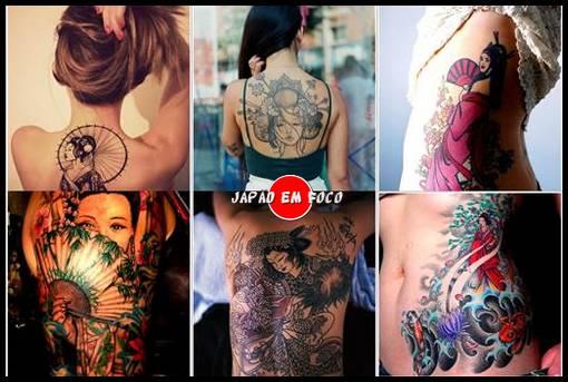 Sugestões de Tatuagens com gueixas