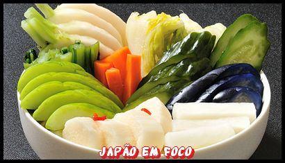 Tsukemono, legumes e verduras em conserva