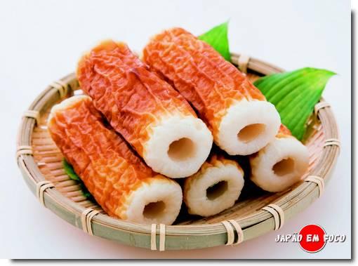 Chikuwa - Iguaria japonesa feita a base de surimi (massa de peixe)