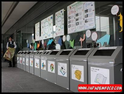 Separar o lixo no Japão