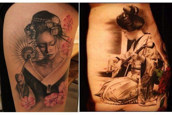 tatuagem de gueixas