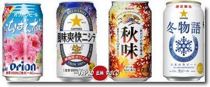 Cervejas sazonais japonesas