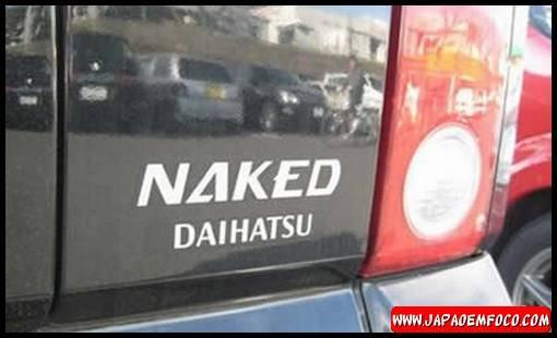Carros japoneses com nomes estranhos - Daihatsu Naked (Pelado em Inglês)