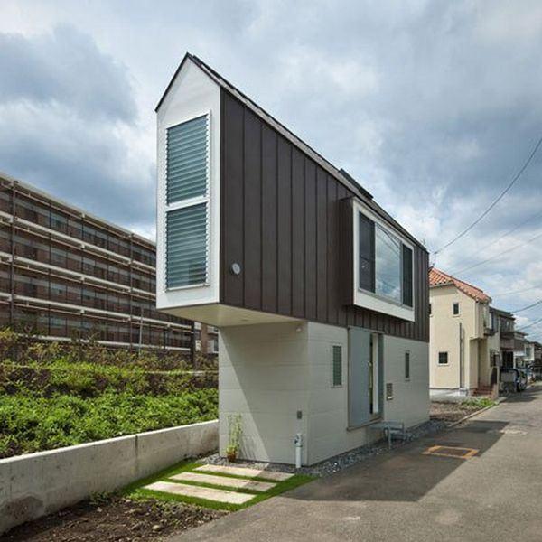 casas estreitas no Japão