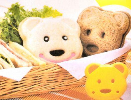 Teddy Bear Sandwich Mold Maker