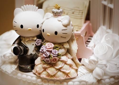 Bolo de Casamento da Hello Kitty