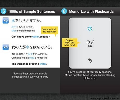 Learn Japanese Wordpower para android e iphone