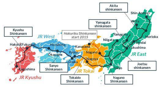 Trem bala conectando o Japão de norte a sul