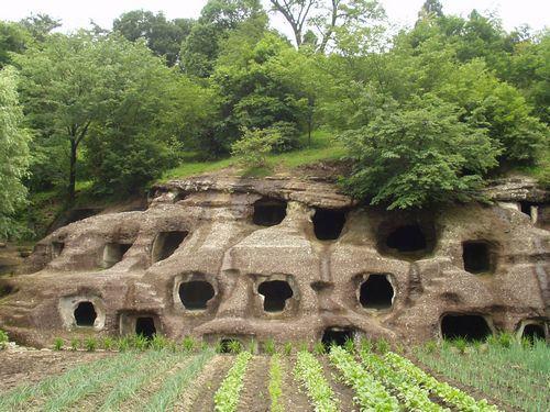 nagaokahyakuana Nagaoka 100 cavernas