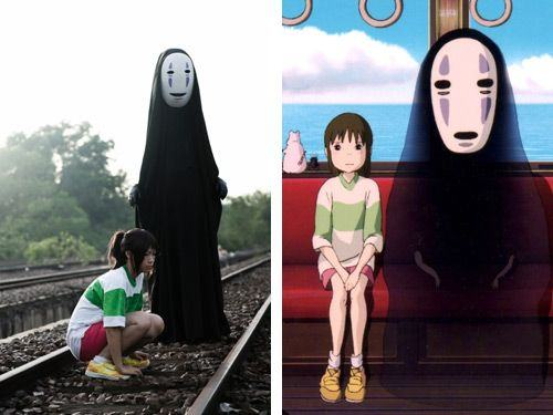 Chihiro & No Face (Spirited Away) cosplay
