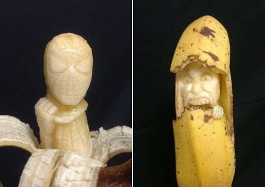 Esculturas em bananas de Keisuke Yamada