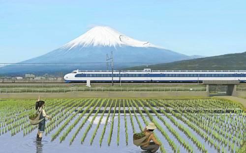 Kodama Shinkansen e Monte Fuji