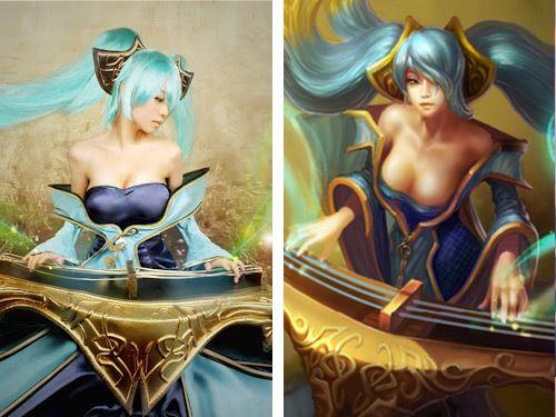 Sona (League of Legends) cosplay