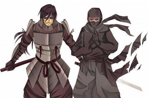 ninja versus samurai