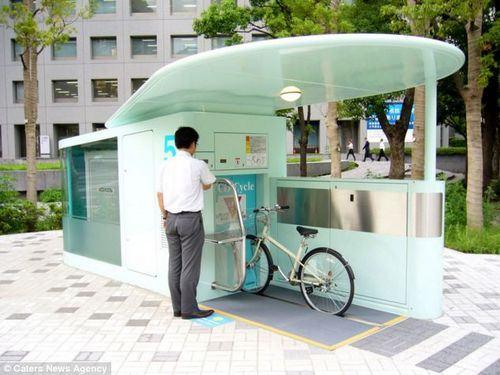Estacionamento de Bicicletas Subterrâneo em Tóquio 1