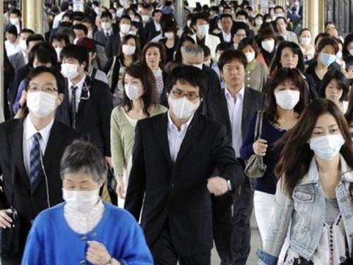 máscaras no Japão